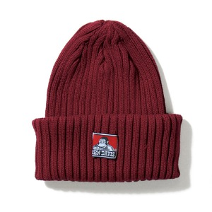 벤데이비스 BENDAVIS - COTTON KNIT BEANIE WINE  (BDW-9500)