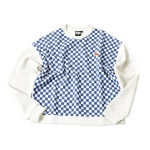 프리키쉬빌딩 FREAKISH BUILDING BOING CHECKERBOARD SWEATER (BLUE)