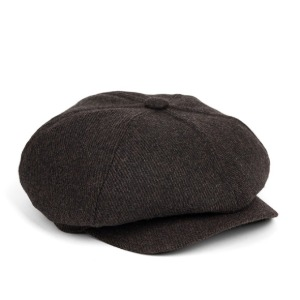 와일드브릭스 WILD BRICKS - LB HEAVY TWILL NEWSBOY CAP (dark brown)